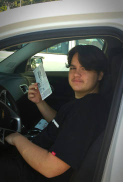 15th Birthday Learner's Permit in hand