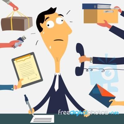 very-busy-businessman-100224336
